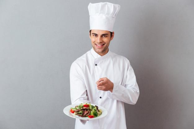 szakács munkaruha viselése